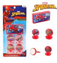 Carimbo com carimbeira kit com 5 pecas spider-man na cartela - etipel -