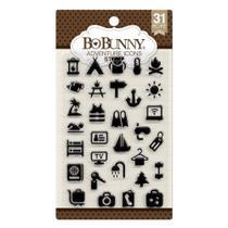 Carimbo de Borracha WeR209 Ícones de Viagem Bo Bunny -