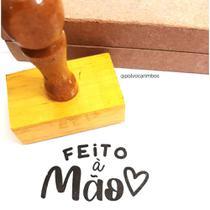 """Carimbo De Madeira """"Feito à mão"""" - Polvo Carimbos"""