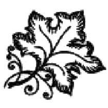 Carimbo Decorativo Folha Uva - Art Decor Produtos