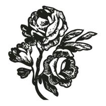 Carimbo em Borracha Litoarte CLP-035 Rosas -