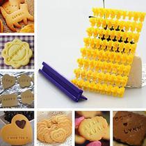 Carimbo Mini Marcador Número Letra Pasta Americana Biscoitos - Kaellis