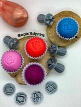 Carimbo Para Docinhos Doces  Brigadeiro Kit Rede Social Mídias Sociais - Epic 3D Print