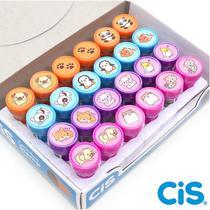 Carimbo Pedagógico Cis Stamp Pets 24 Unidades -