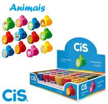 Carimbo Pedagogico Infantil Stamp Animais Cis Caixa C/ 24 -
