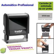 Carimbo Trodat 4912 4.0 Automático (carcaça) Original Preto -