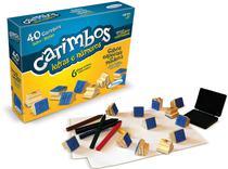 Carimbos com  letras e números de madeira - Xalingo