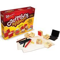 Carimbos Educativos Alfabeto - 28 Carimbos - Madeira - 50932 - Xalingo -