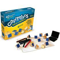 Carimbos Educativos Letras e Números - 40 Carimbos - Madeira - 50910 - Xalingo -