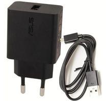 Carregador Asus Turbo Zenfone Max 3, 4, M1, M2, Pro, Plus, Shot Com Cabo Micro USB, Preto -