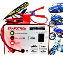 Carregador Automotivo Bateria Carro Moto 12v Flutuante Cf5 - Trafotron