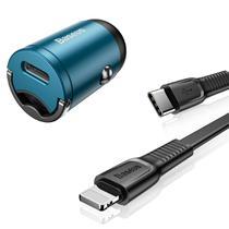 Carregador Automotivo Turbo PD Power Delivery para iPhone 8 Original Baseus -