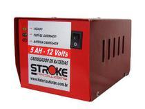 Carregador Bateria Automotiva 12v 5ah Vermelho Carro, Moto, Jet-ski - Stroke Power