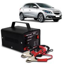 Carregador Bateria Automotivo Para Carro Shutt Bivolt 12V 5A 60W Com Led Indicador Auxiliar Partida -