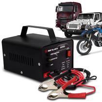Carregador Bateria Automotivo Shutt  Bivolt 12V 10A 120W Com Led Indicador Preto -