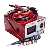 Carregador Bateria Carga Rapida 10ah Moto 12v Cv10 Flutuante - Trafotron
