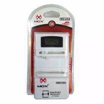 Carregador bateria celular universal digital bivolt mox -