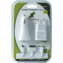Carregador Celular de Parede Usb+veicular IPH4/5/6+V8 Unidade FLEX -