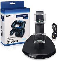 Carregador Compatível com Controle PS4 Suporte Dock para Dualshok 4 Duplo - Oivo