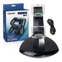 Carregador controle Duplo compativel Ps4 Playstation 4 play 4 com led - Oivo
