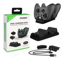 Carregador Controle Xbox One C/ 2 Baterias 300mah dobe -