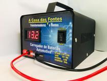 Carregador De Bateria 12v Carro E Moto 20ah Com Voltimetro - A casa das fontes