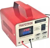 Carregador De Bateria 12v Com Voltimetro E Amperimetro Cva5a - Trafotron