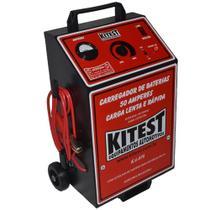 Carregador de Bateria Analógico Lento e Rápido 50A com Auxliar de Partida KITEST-KA078 -