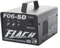 Carregador de Bateria Automático 12V Flach F06-SD -