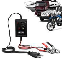 Carregador de Bateria Automotivo 12V 2000mAh 24W Bivolt Com Led Auxiliar Partida Shutt -