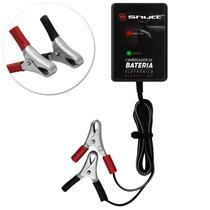 Carregador de Bateria Automotivo Shutt Bivolt 12V Auxiliar de Partida Carro Moto Barco Preto -