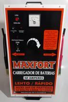 Carregador De Bateria Mx1 50a 12v Com Auxiliar De Partida Maxfort -