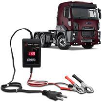Carregador de Bateria Voltímetro Automotivo Caminhão Shutt 12V 2000mAh 24W Bivolt Auxiliar Partida -