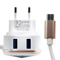 Carregador de celular - 2 entradas USB V8 - Inova - carrega dois aparelhos ao mesmo tempo. -