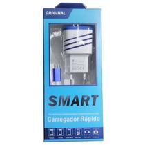 Carregador de Celular Rápido Smart 3.1A  2 USB V8 -