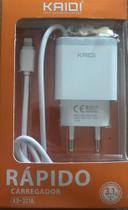 Carregador de iPhone Tomada Kaidi KD-321A Lighting (iphone) 100cm 3.1A Micro USB + 2 saidas USB