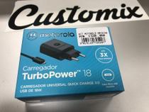 Carregador de parede motorola turbo original 18W - kit cabo e tomada - Motorola (Original)