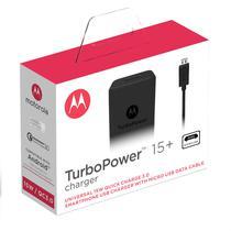 Carregador De Parede Motorola Turbo Power 15w - Com Cabo Micro Usb - Preto -