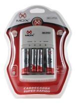 Carregador de Pilhas Com 2AA e 2AAA Auto Stop Mox CP53 -