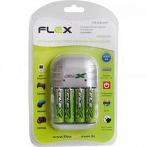 Carregador de Pilhas FXC03-4P AA/AAA/9V FLEX -