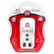 Carregador de Pilhas Mox AA AAA e Baterias 9v Desligamento Automático Leds Bivolt Inmetro MO-CP30 -