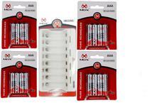 Carregador de Pilhas para 8 pilhas 16 pilhas AAA  V8 carregador - Mox