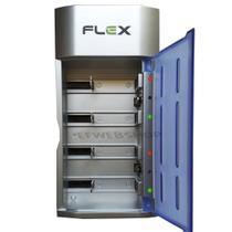 Carregador de Pilhas Universal AA AAA C D e Baterias 9v Bivolt com Led que muda de cor FX C06 - Flex