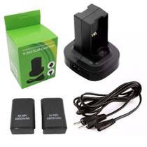 Carregador Duplo + 2 Baterias Controle Xbox 360 4800mah Bi Volt - Jsx