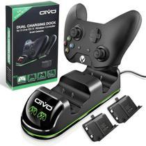 Carregador Duplo Controle Xbox One Dock + 2 Baterias 600mAh - Oivo