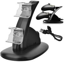 Carregador Duplo P/ 2 Controle Xbox One Base Suporte Preto - Techbrasil