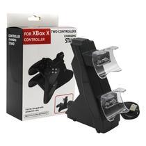 Carregador Duplo Para 2 Controle Compatível Com Xbox Series X Base Suporte - Techbrasil