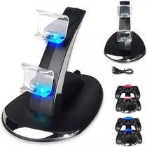 Carregador Duplo Para Controle Ps4 Oivo Luz Azul Kg219 -
