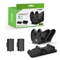 Carregador Duplo Xbox One Series Dock + 2 Baterias 800mAh - Dobe