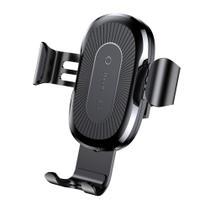 Carregador E Suporte Veicular Sem Fio Wireless Por Indução Compatível Samsung - Baseus
